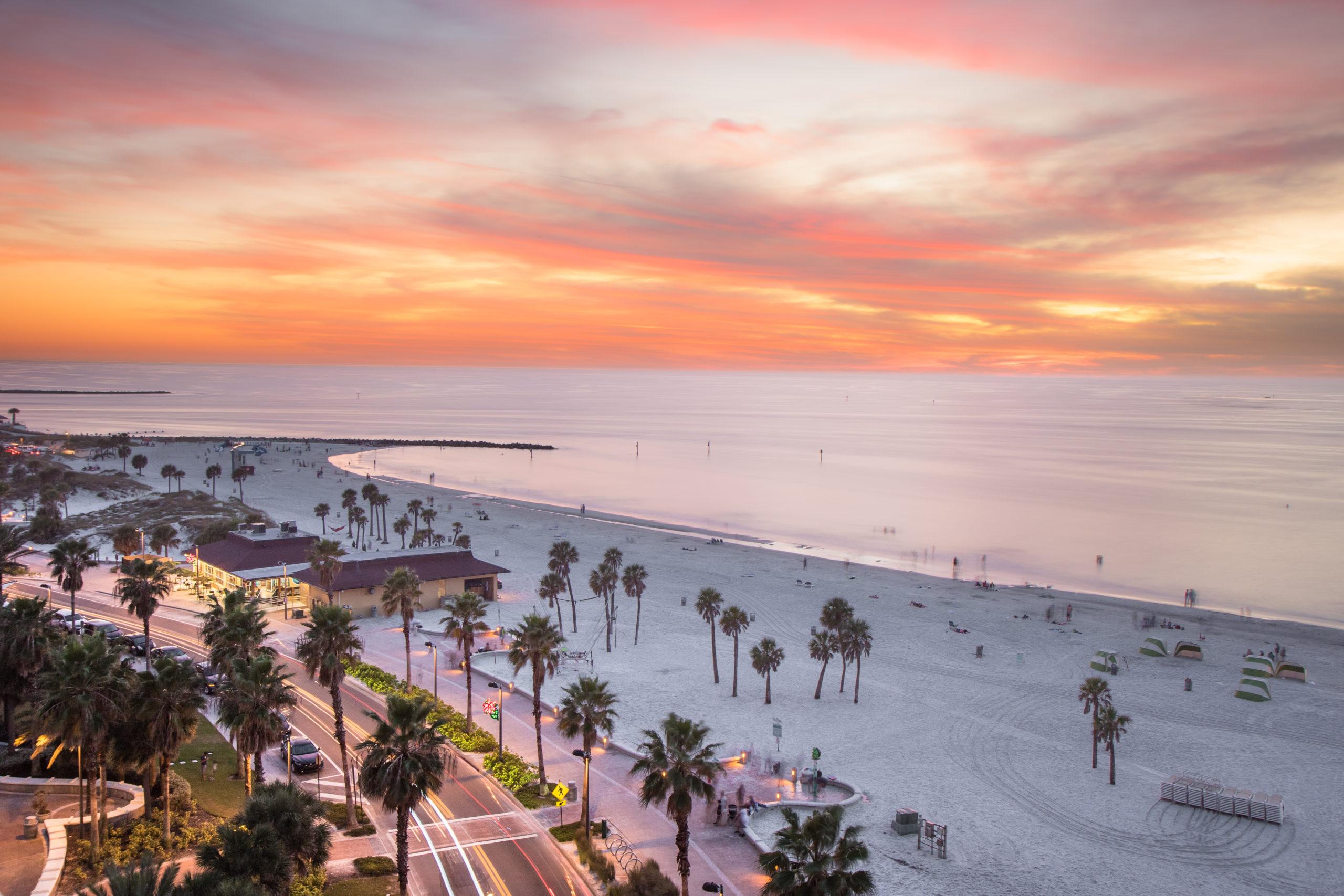 Clearwater Beach o zachodzie słońca, licencja: shutterstock/By David Y Hyun