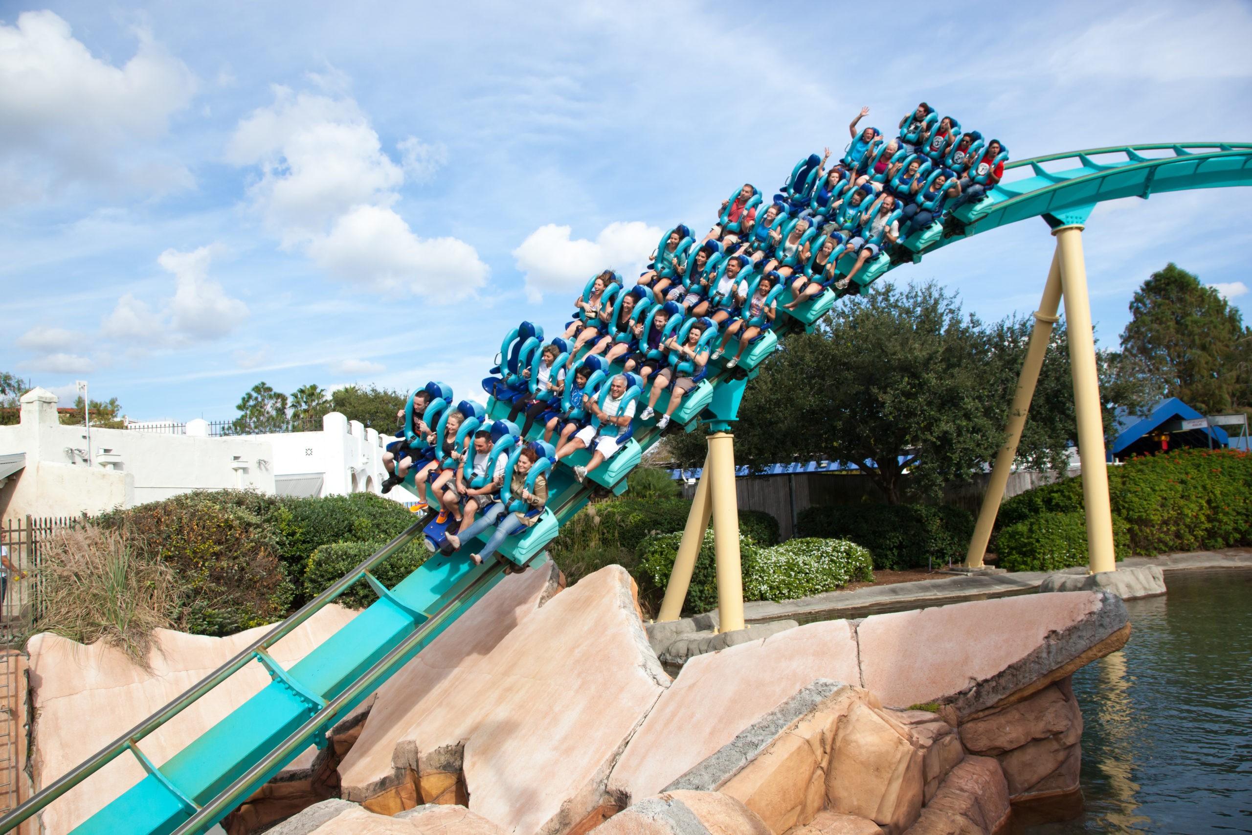 Roller Coaster at Sea World, licencja: shutterstock/By Erin Cadigan