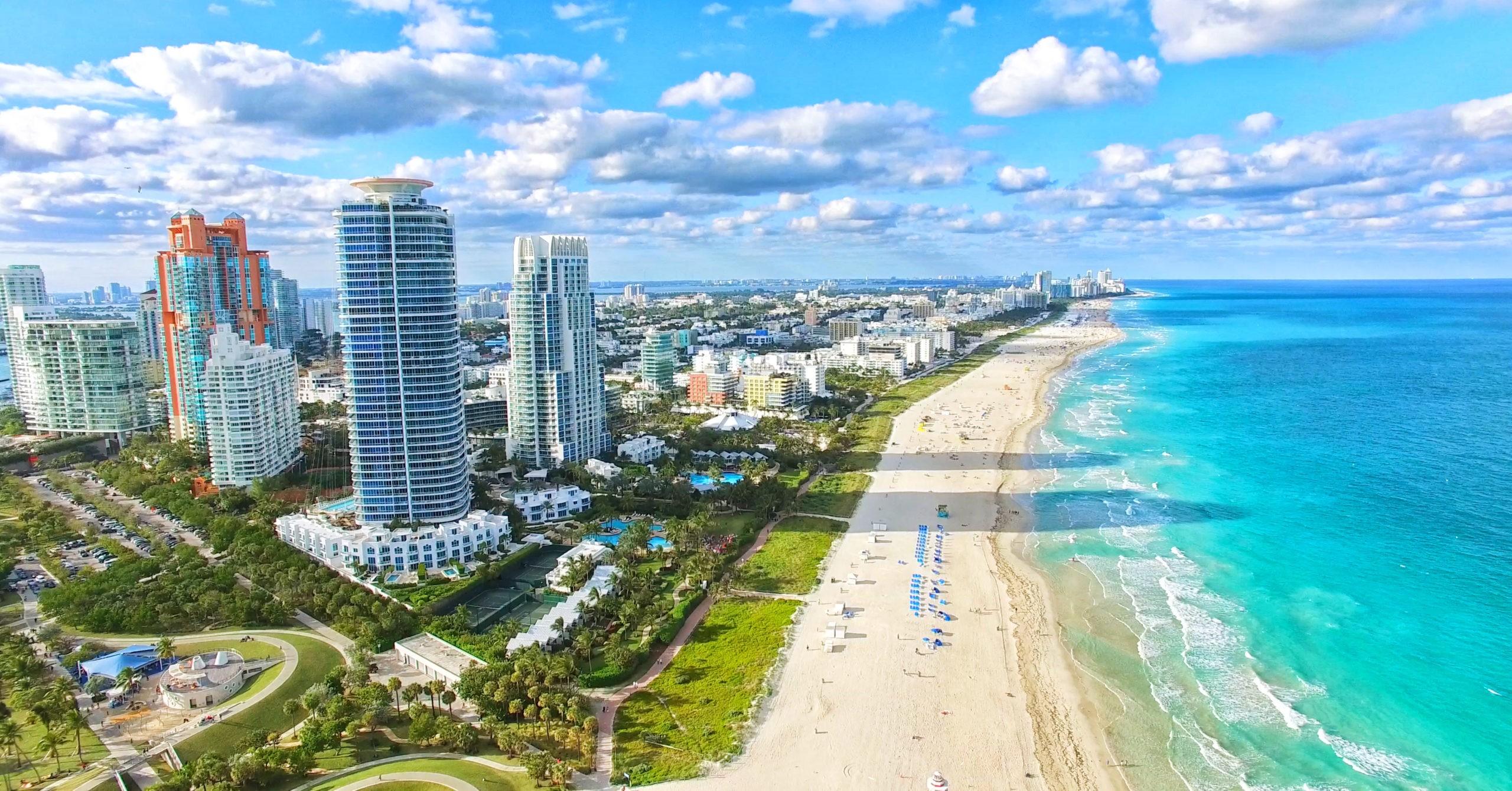 Plaża South Beach, Miami Beach. Floryda., licencja: shutterstock/By Mia2you