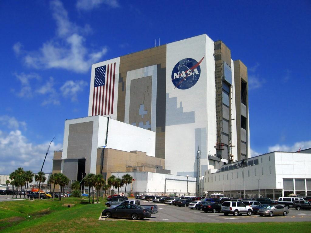 building of Nasa,Kennedy space centre, Florida, USA