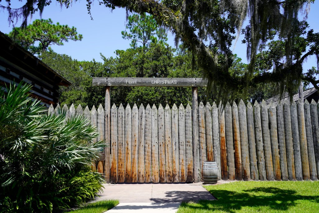 Christmas, Florida / USA - August 1, 2020: Fort Christmas was built in Christmas, Florida during the Second Seminole War. Construction began on December 25, 1837.