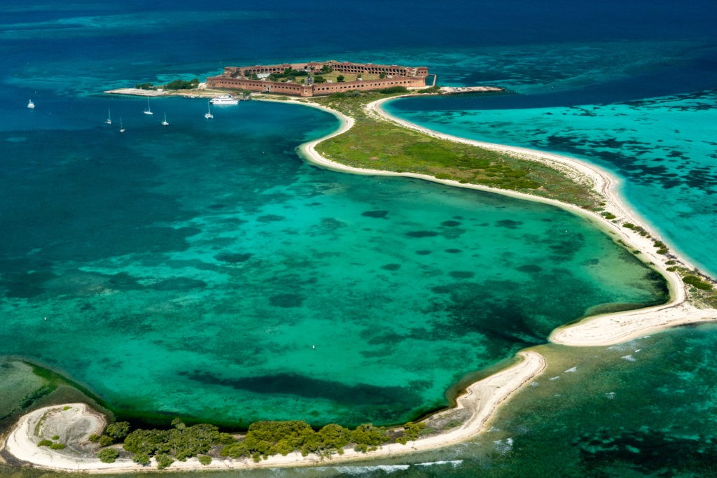 Float Plane View of Dry Tortugas National Park, Florida