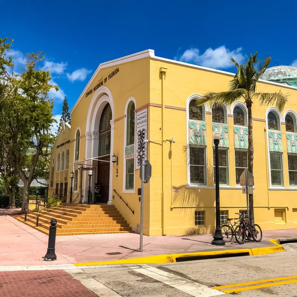 Jewish Museum of Florida in Miami  South Beach. Miami, Florida March 30, 2018.