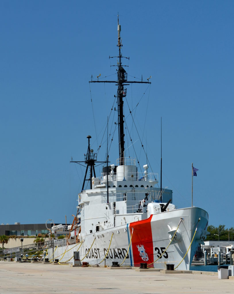 KEY WEST, FL-JULY 27: U. S. Coast Guard Cutter Ingham, commissioned 12 Sept 1936, decommissioned 12 May 1988, is a Museum and National Historic Landmark located in Key West, Florida, on July 27, 2014.