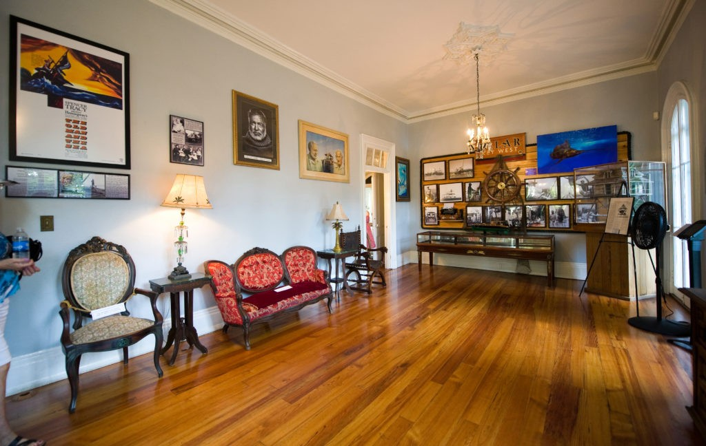 KEY WEST, FLORIDA, USA - MAY 03, 2016: Room in the Ernest Hemingway House in Key West in Florida.