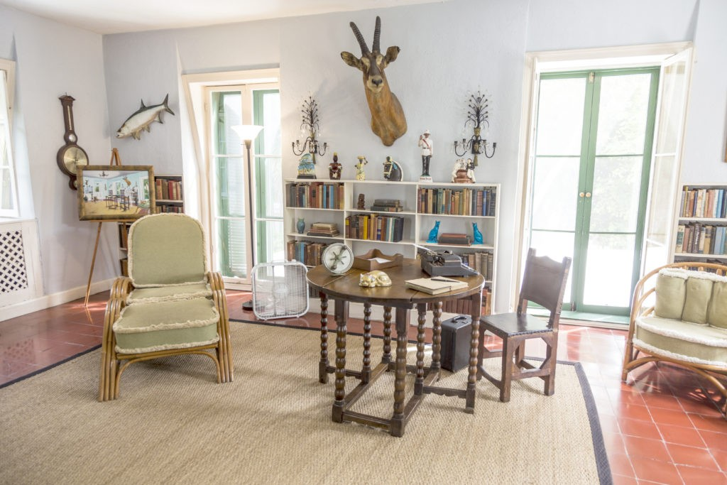 KEY WEST, USA - AUG 27, 2014: working room of Ernest Hemmingway in Key West, USA. Ernest Hemingway lived and wrote here from 1931 to 1939.