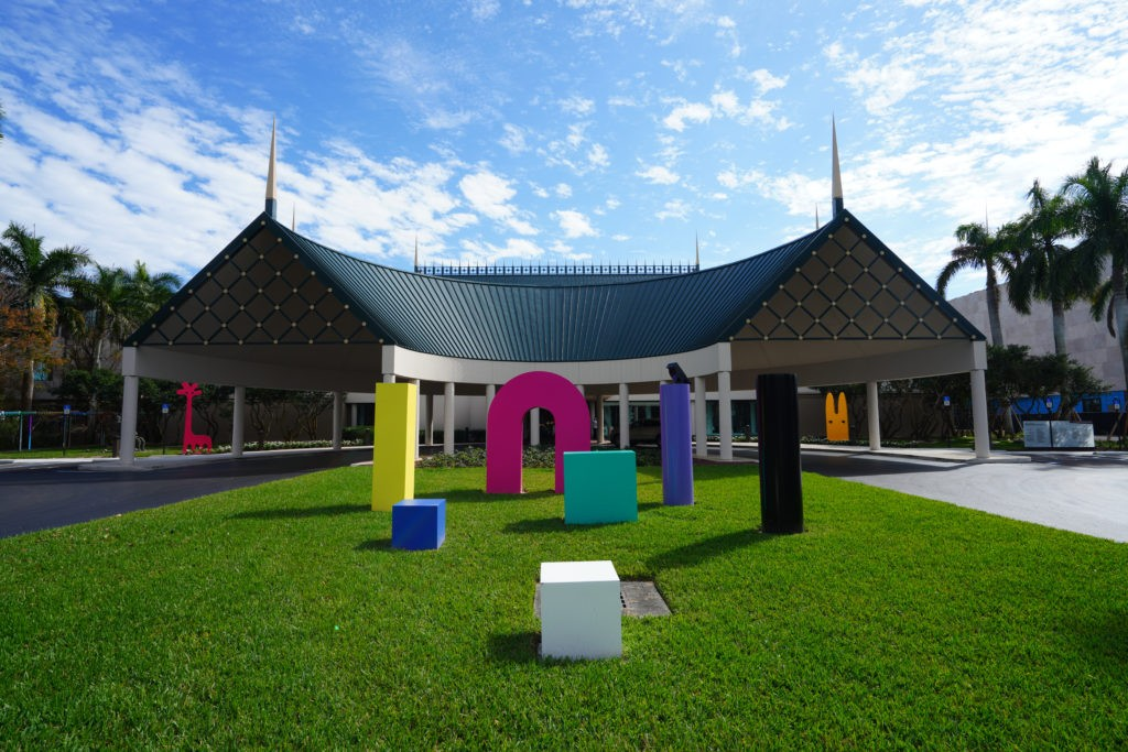 NAPLES, FL -30 JAN 2020- View of the Baker Museum at the Artis-Naples arts complex in Naples, Florida, United States.