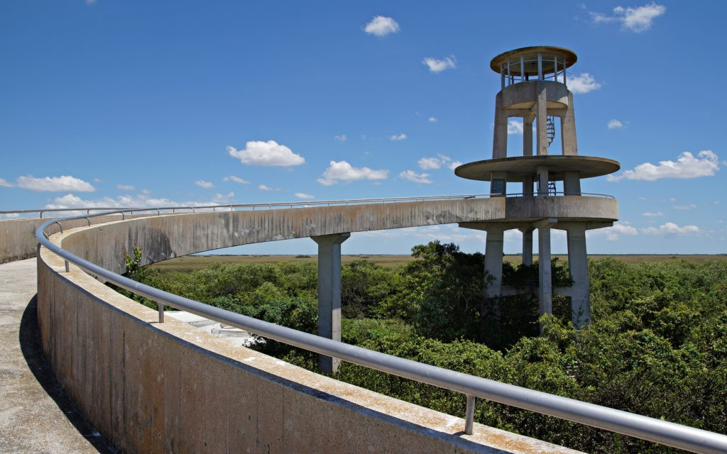 Observation Tower at Shark Valley in the Florida Everglades