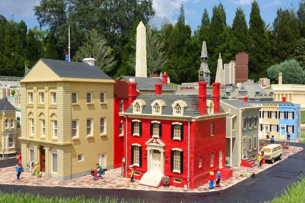 ORLANDO, FL -20 JUN 2020- View of Washington DC landmarks built out of LEGO bricks at Miniland at the Legoland Florida Resort theme park in Orlando, Florida.