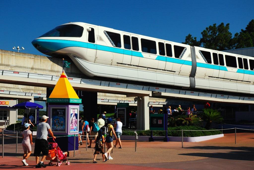 Orlando FL, USA July 21 A family heads to the entrance of Walt Disney World in Orlando Florida