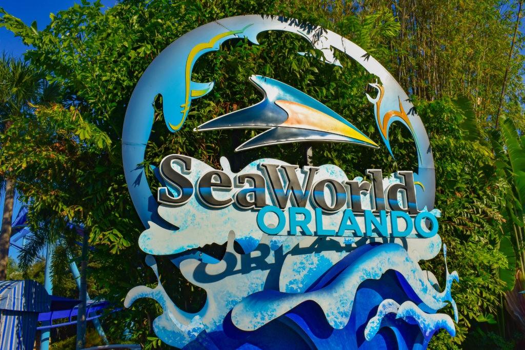 Orlando, Florida . February 26,  2019. Seaworld sign at Theme Park.
