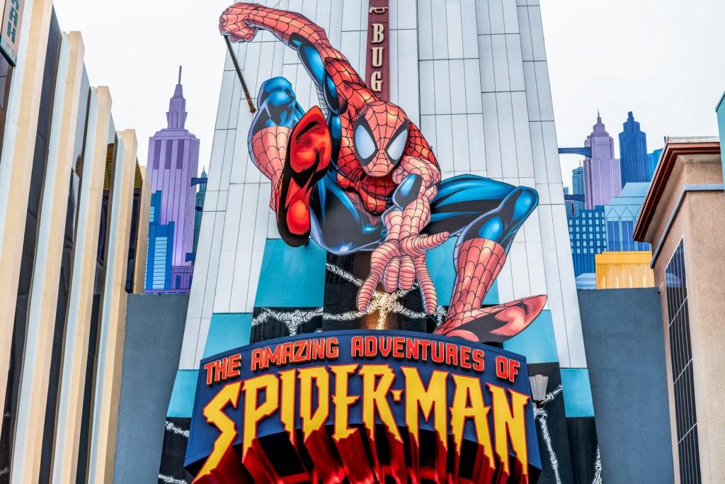 ORLANDO, FLORIDA, USA - DECEMBER, 2018: The Amazing Adventure of Spiderman, Marvel Super Hero Island, Islands of Adventure, Universal Studios Orlando Florida