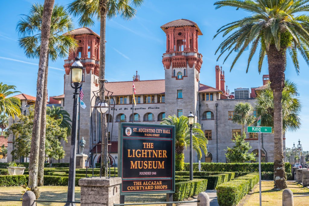 St Augustine, FL, USA - Feb 7, 2019: The historic Lightner Museum