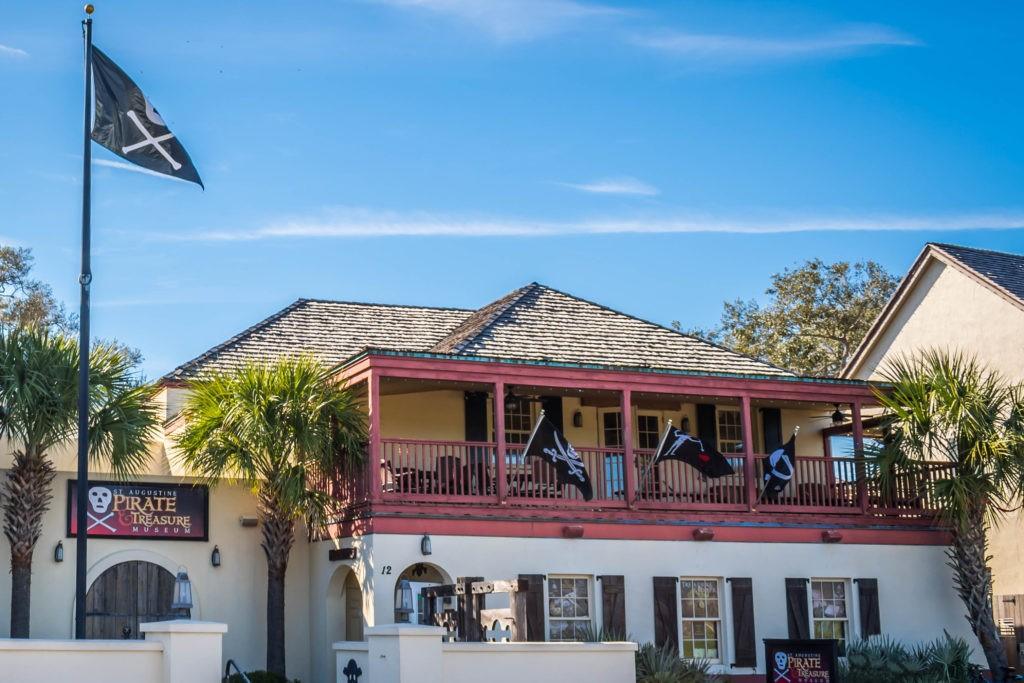 St Augustine, FL, USA - Feb 7, 2019: The Pirate Treasure Museum