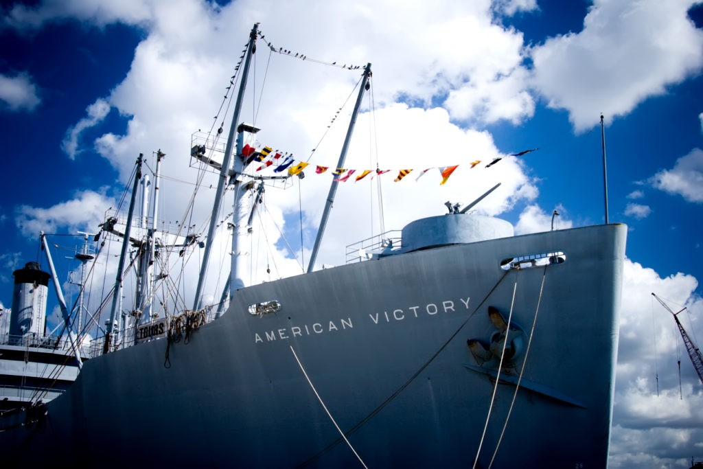 The WWII victory ship American Victory in Tampa, FL.