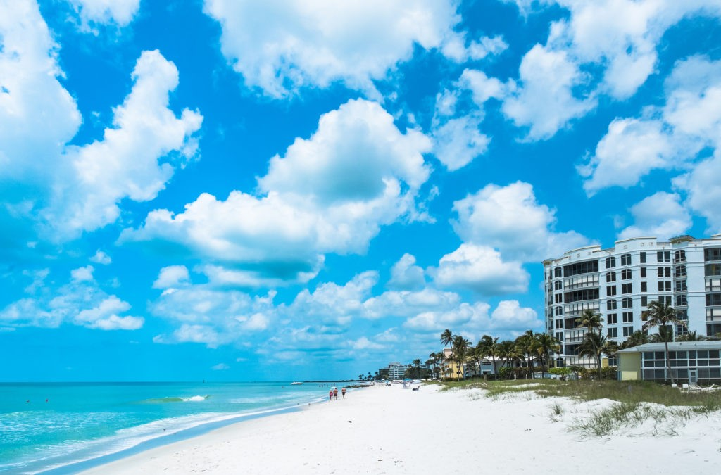 Vacation Beach in Naples Florida, USA