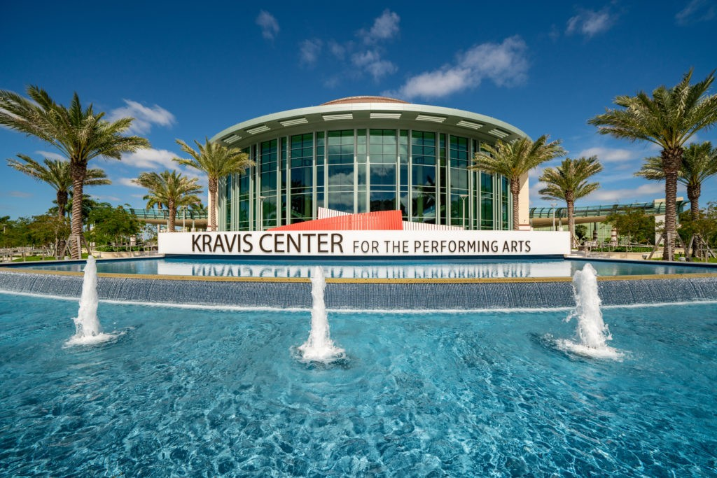 WEST PALM BEACH, FL, USA - MARCH 29, 2020: Beautiful photo Kravis Center for the performing arts West Palm Beach FL