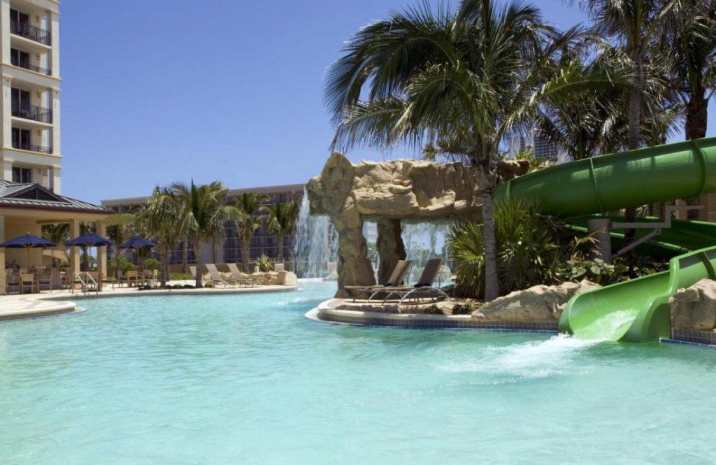 Palm Beach z lotu ptaka, Floryda - USA.