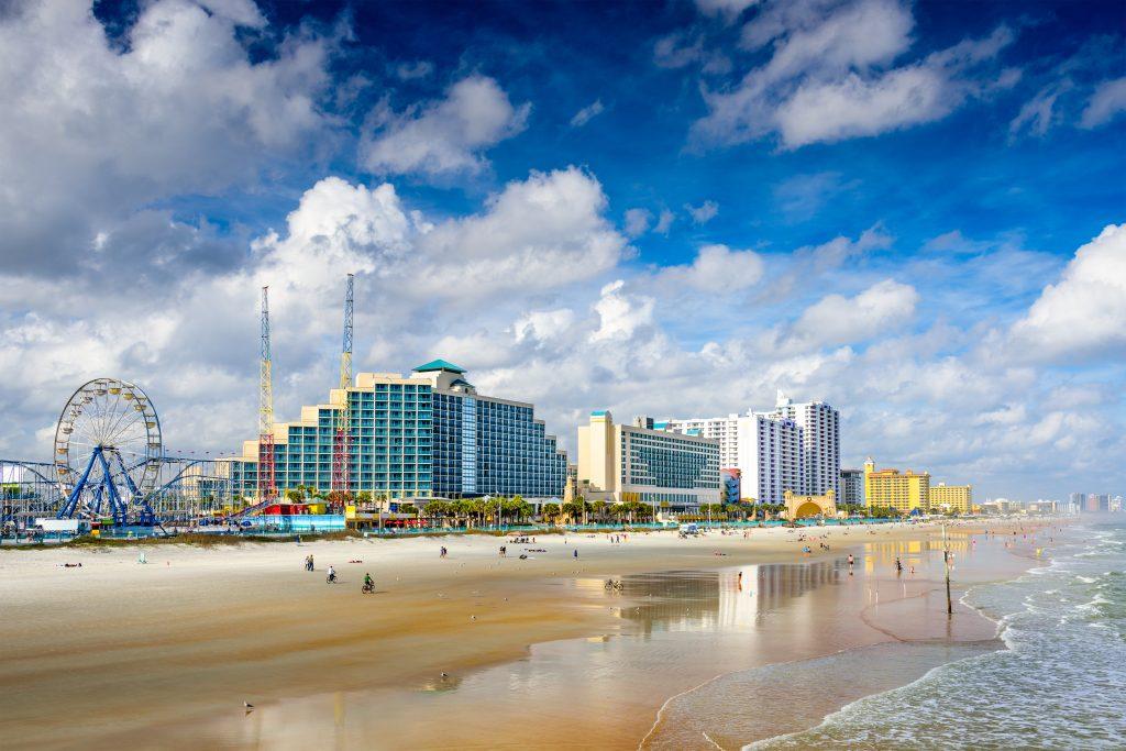 Daytona Beach, Floryda, panoramę plaży USA.