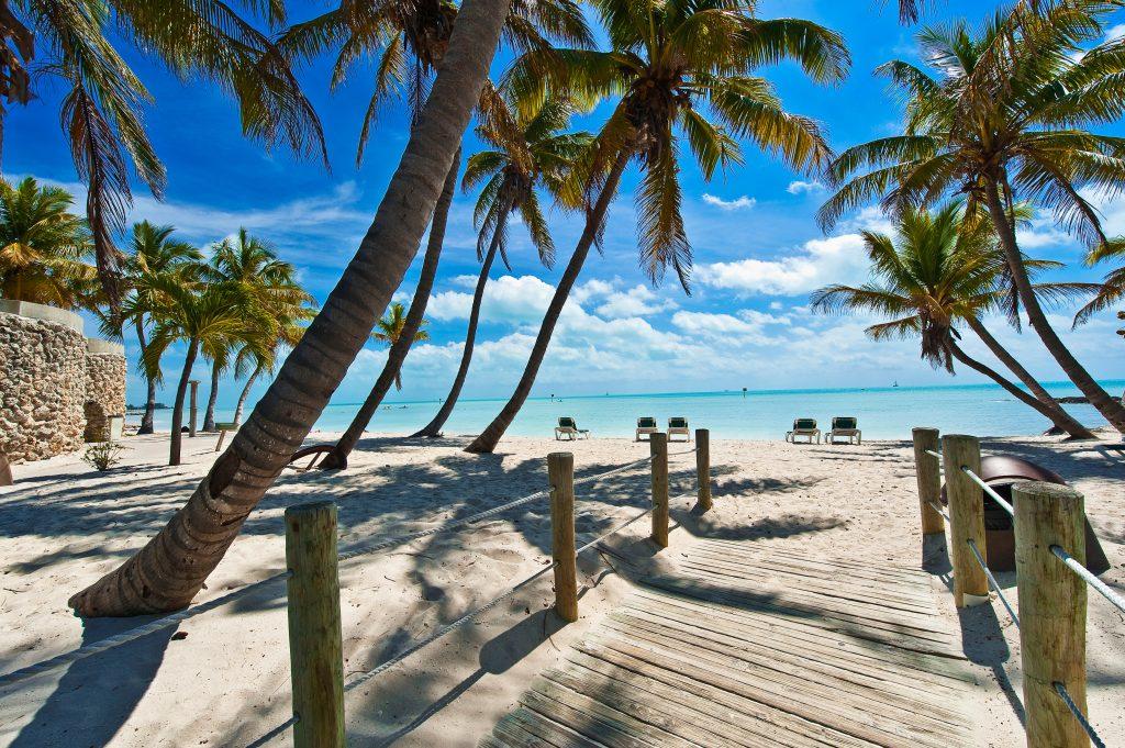 kładka do plaży - Key West