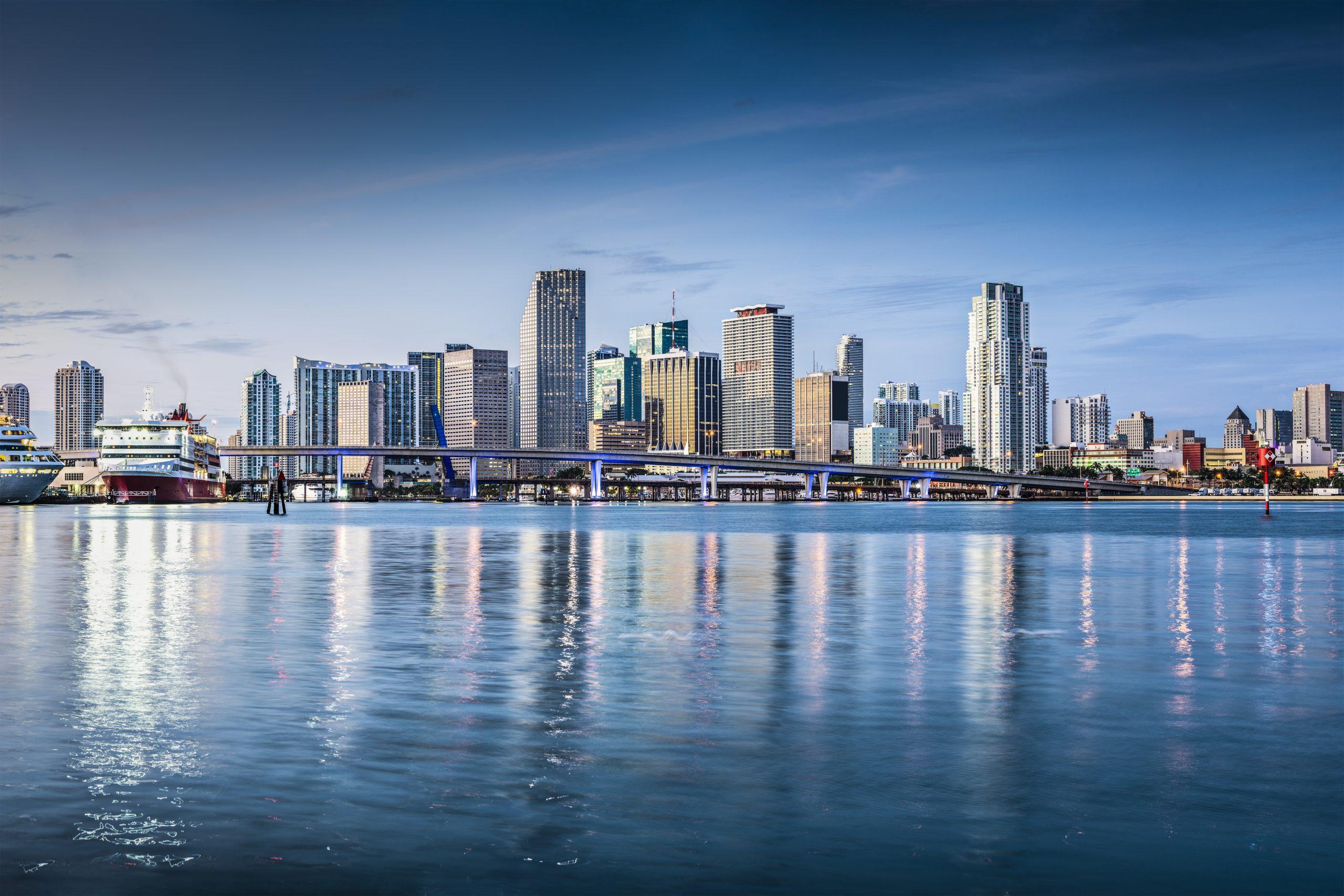 Miami, Floryda, USA w centrum miasta.